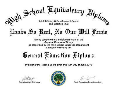 Ged Certificate Template Download Fake Ged High School Diploma $39 95