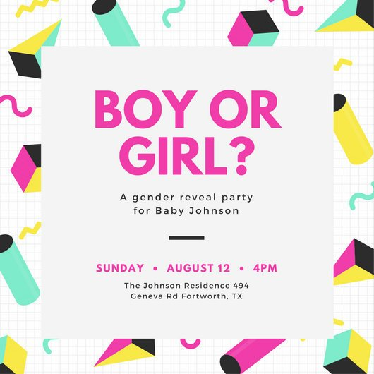 Gender Reveal Invitation Templates Customize 29 Gender Reveal Invitation Templates Online