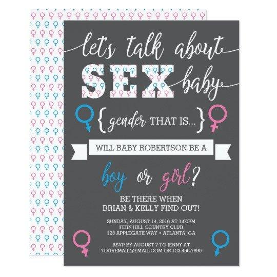 Gender Reveal Invitation Templates Gender Reveal Invitation Let S Talk About Gender Card