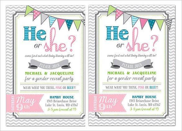 Gender Reveal Invitation Templates Gender Reveal Invitation Template – 34 Free Psd Eps