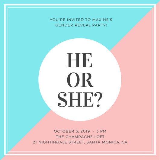 Gender Reveal Invitation Templates Gender Reveal Invitation Templates Canva