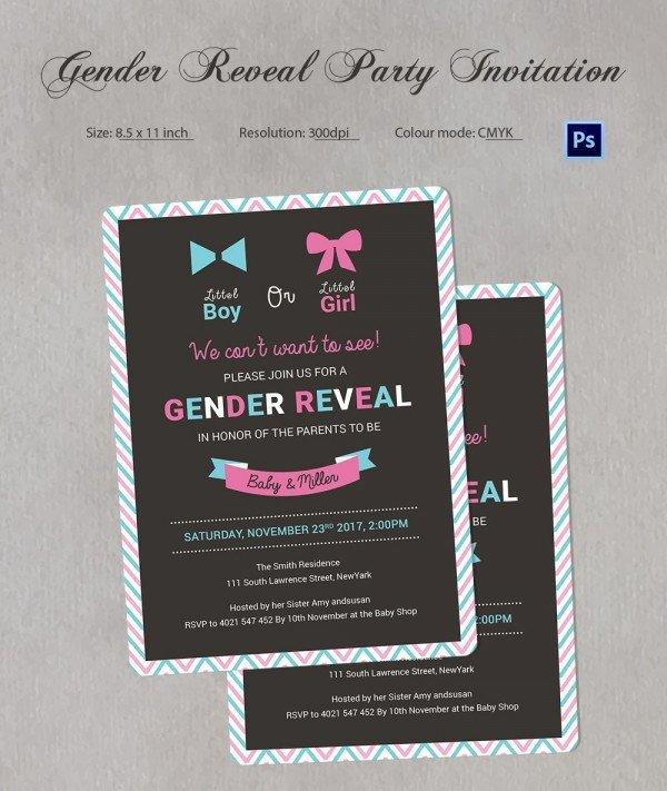 Gender Reveal Invitation Templates Gender Reveal Invitation Templates