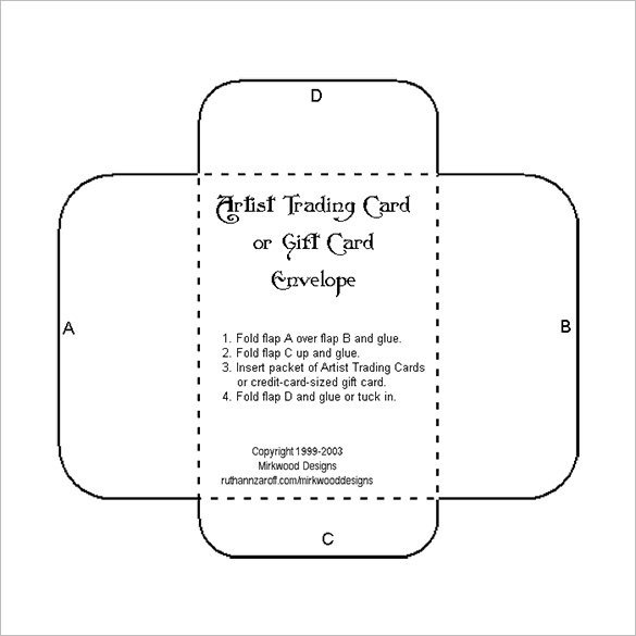 10 Gift Card Envelope Templates Free Printable Word