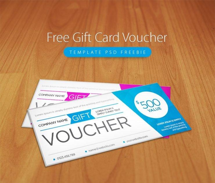 Gift Card Template Psd Free Gift Card Voucher Template Psd Freebie Download Psd