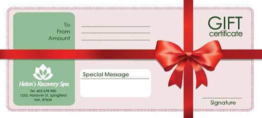 Gift Card Template Psd Free Holiday Gift Certificate Templates In Psd and Ai On