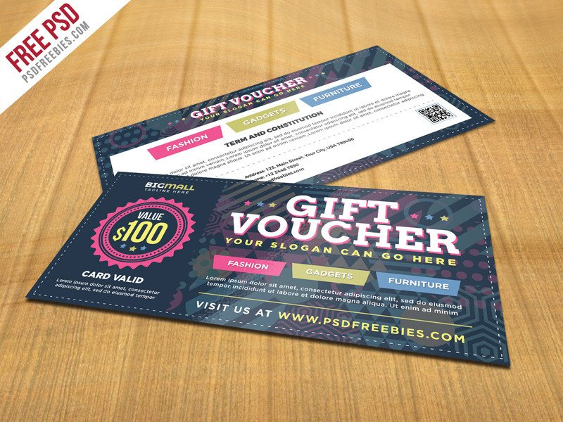 Gift Card Template Psd Free Psd Multipurpose Gift Voucher Psd Template by Psd
