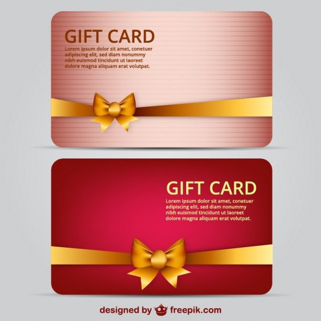 Gift Card Template Psd Gift Card Template Free Vector