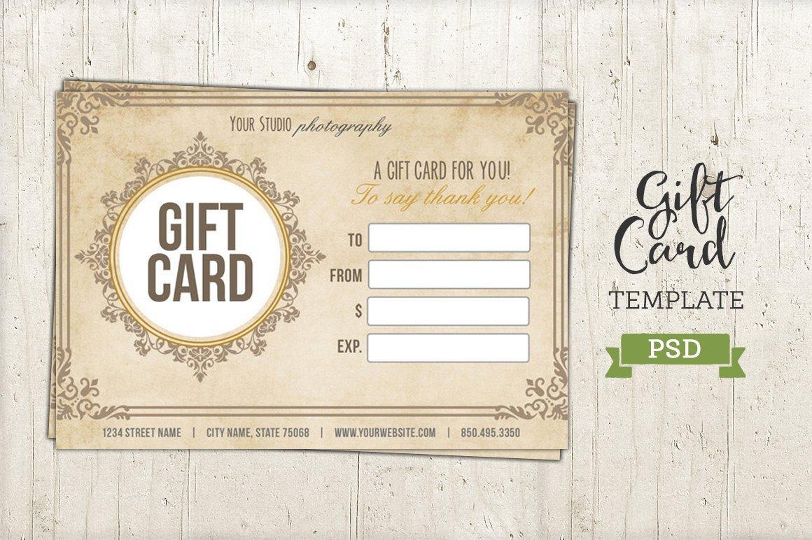 Gift Card Template Psd Gift Card Template Psd Certificate Templates