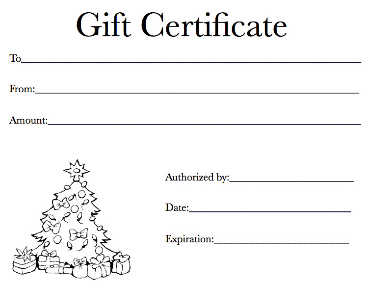 Gift Certificate Template Pages Holiday Gift Certificate Template