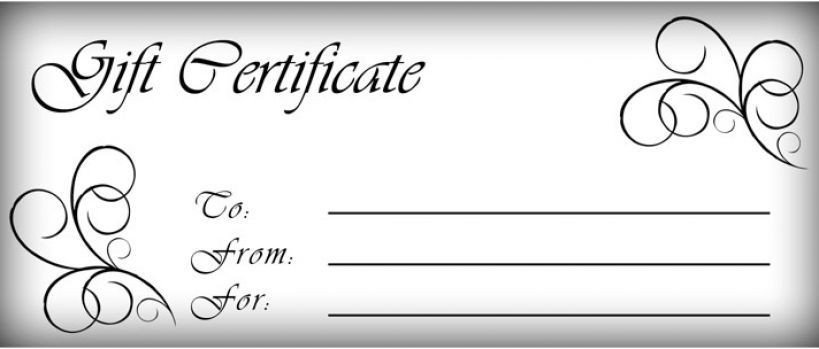 Gift Certificate Template Pages T Certificates Templates