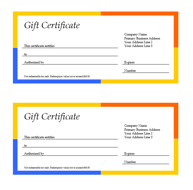 Gift Certificate Template Word 11 Free Gift Certificate Templates – Microsoft Word Templates