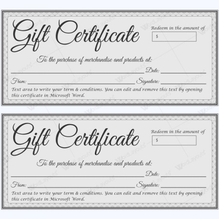 Gift Certificate Template Word Gift Certificate Templates Make Gift Certificate In 3 Steps