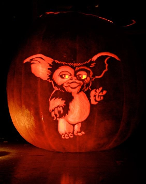 Gizmo Pumpkin Stencil 47 Awesome Movie Pumpkin Decor and Carving Ideas Digsdigs