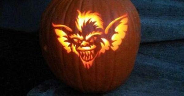 Gizmo Pumpkin Stencil Gremlin Pumpkin Carving Halloween Pinterest