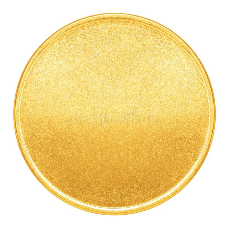 Gold Coin Template Printable Blank Template for Gold Coin Medal Stock Image Image
