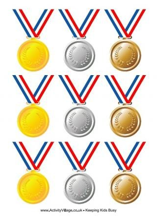 Gold Medal Printable Free Printable Awards and Medals for Classroom and Home