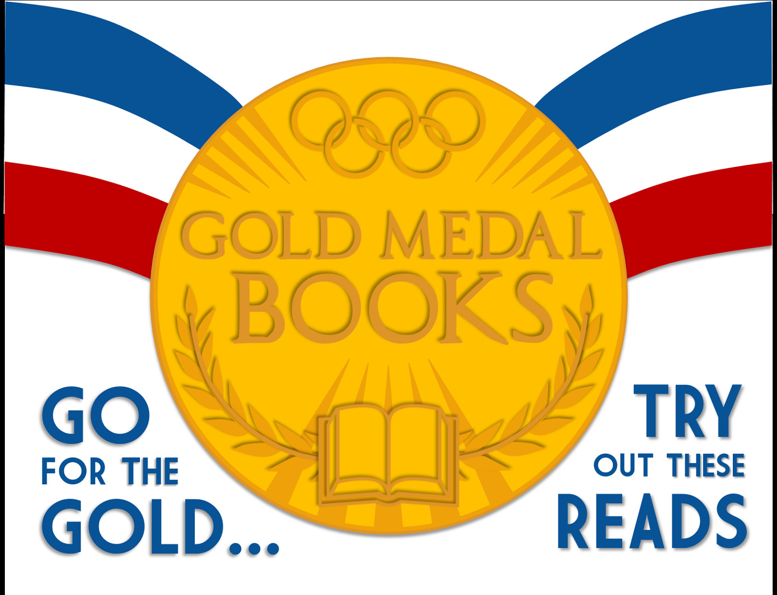 """Gold Medal Printable Literary Hoots """"gold Medal Books"""" Olympics Library Display"""