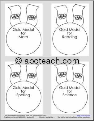Gold Medal Printable Olympic Medals Olympic theme Gold Medal Printable