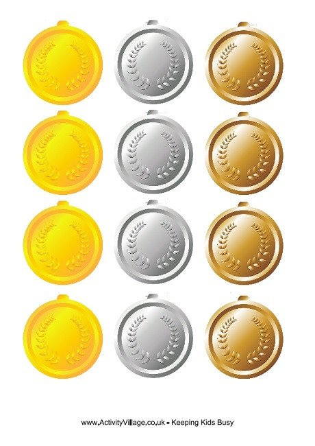 Gold Medal Printable Olympic Medals to Print