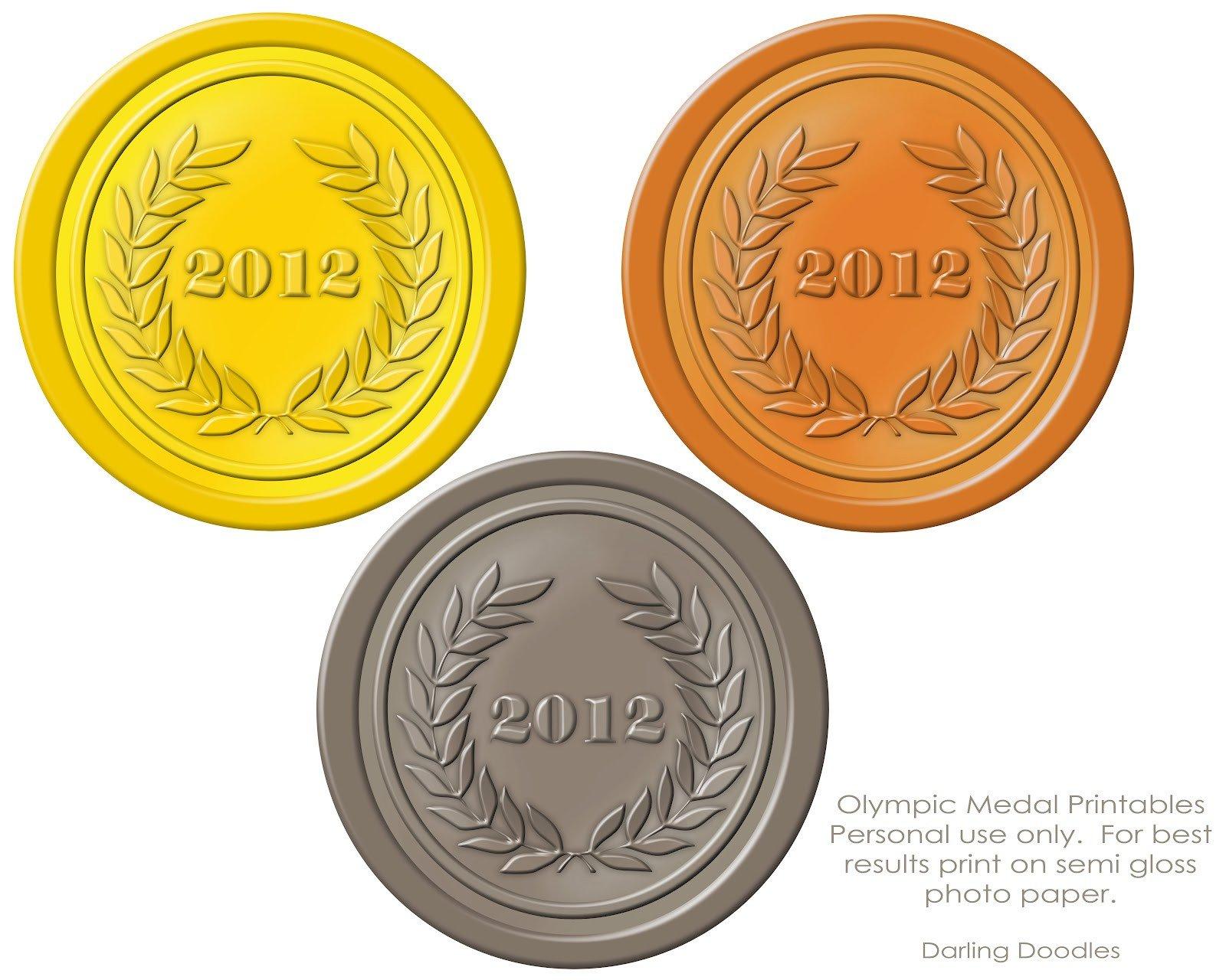 Gold Medal Printable Olympic Printables Darling Doodles