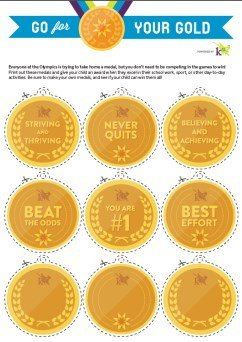 Gold Medal Printable Printable Gold Medals Learning Liftoff
