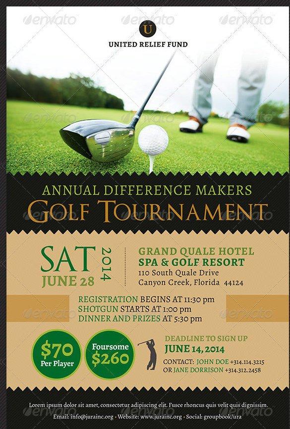 Golf tournament Flyer Template 48 Fundraiser Flyer Templates Psd Eps Ai Word
