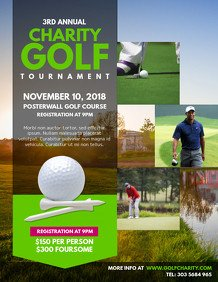 Golf tournament Flyer Template Customize 200 Golf Poster Templates