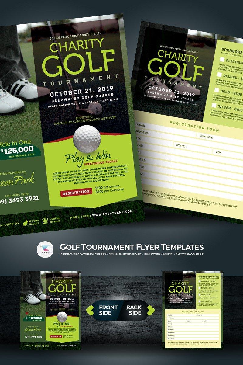 Golf tournament Flyer Template Golf tournament Flyer Psd Template