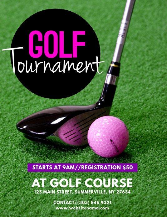 Golf tournament Flyer Template Golf tournament Flyer Template