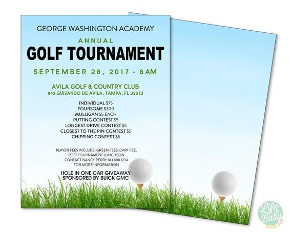 Golf tournament Flyer Template Golf tournament Flyer Template School Golf tournament Poster