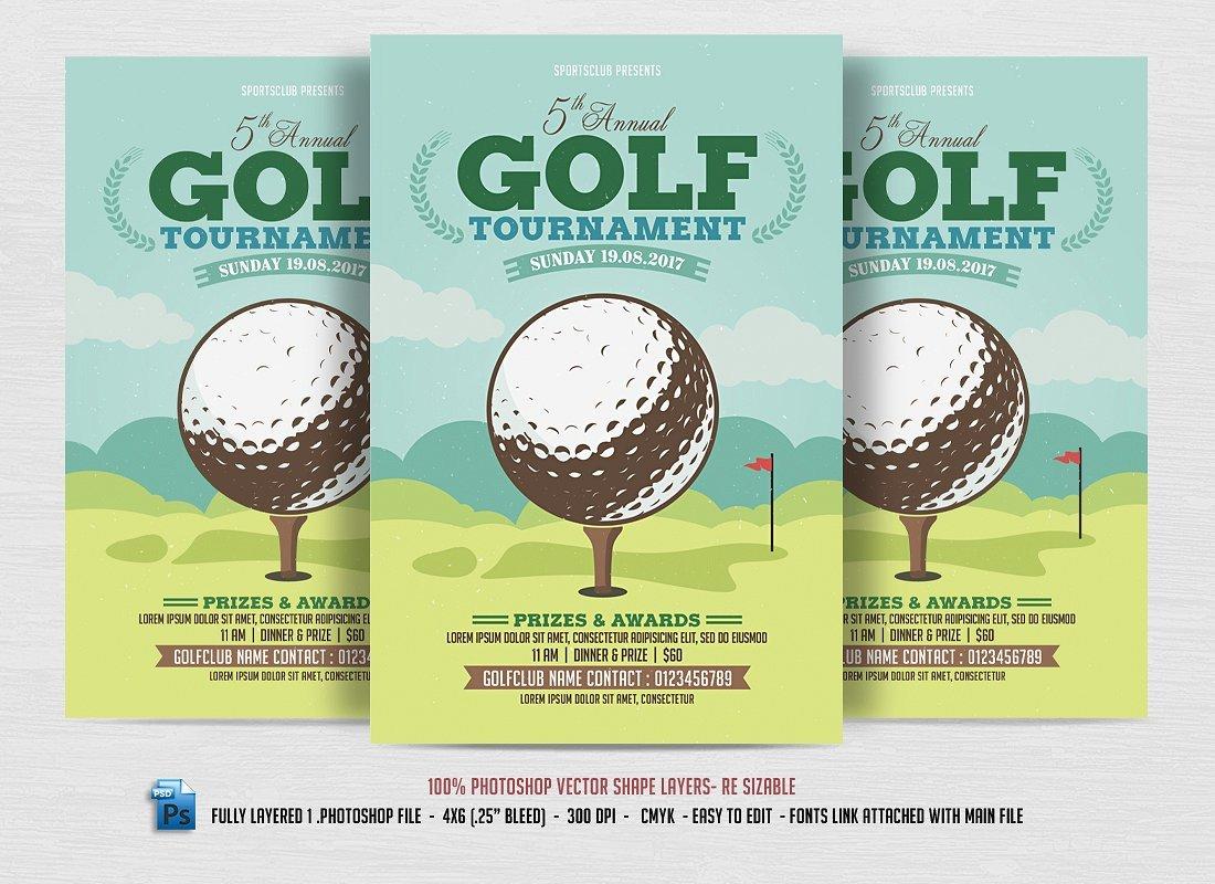 Golf tournament Flyer Templates 24 Sports event Flyers Templates Word Ai Psd Apple