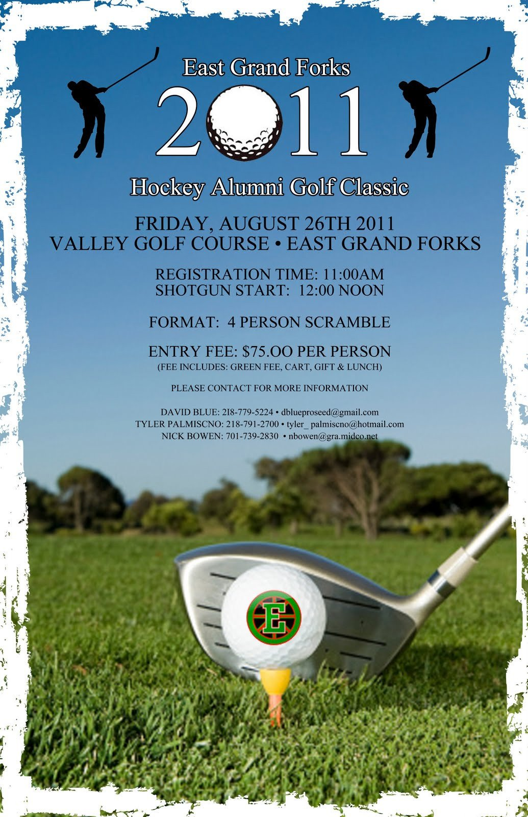 Golf tournament Flyer Templates East Grand forks Greenwave Hockey Golf tournament