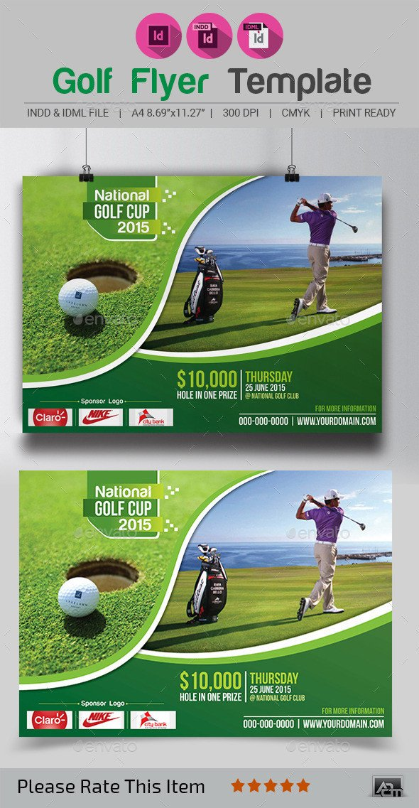 Golf tournament Flyer Templates Golf Flyer Template by Aam360