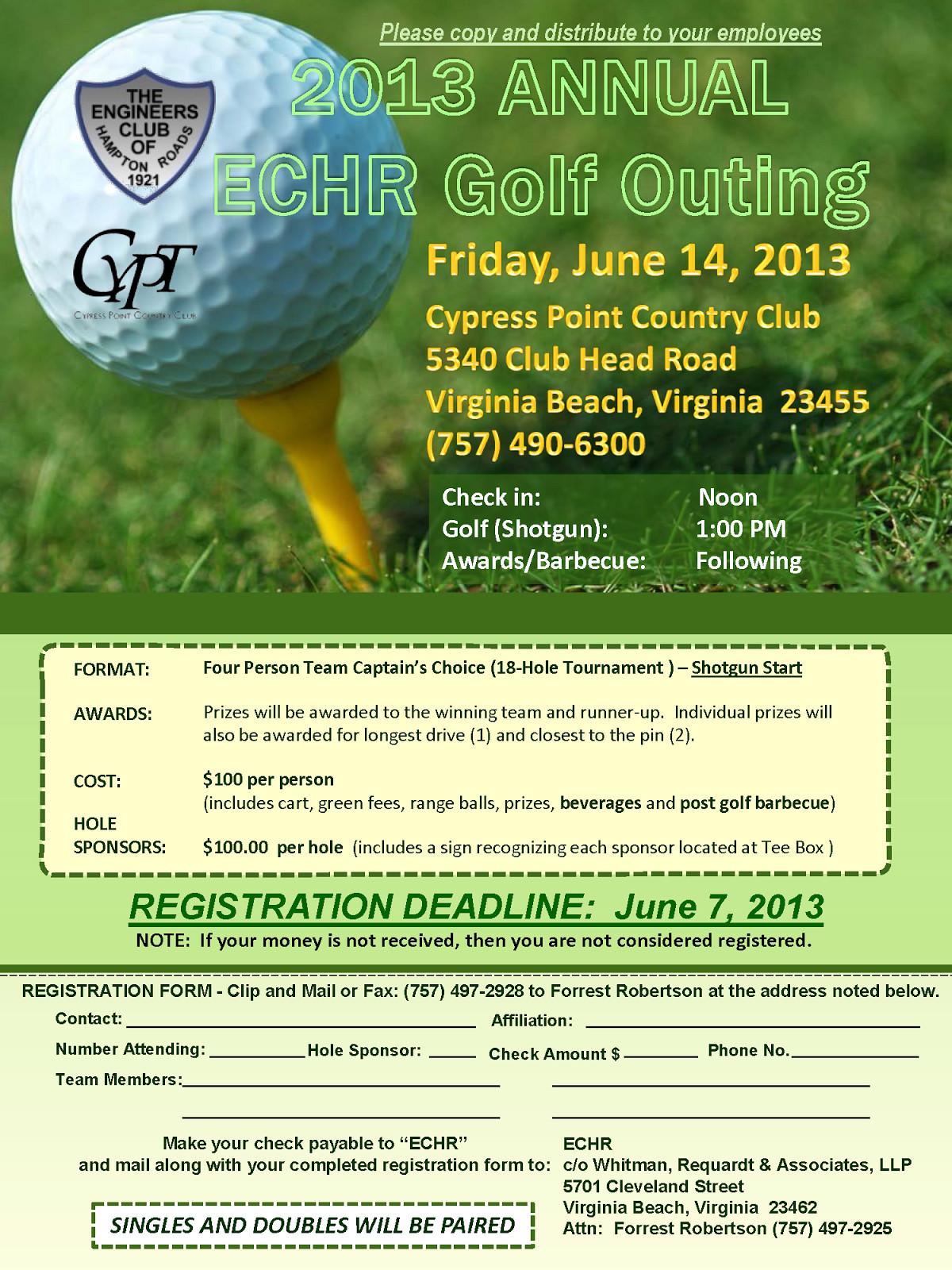 Golf tournament Flyer Templates Golf Outing Flyer Template