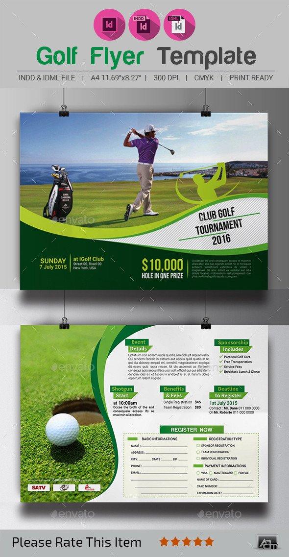 Golf tournament Flyer Templates Golf tournament Flyer Template by Aam360