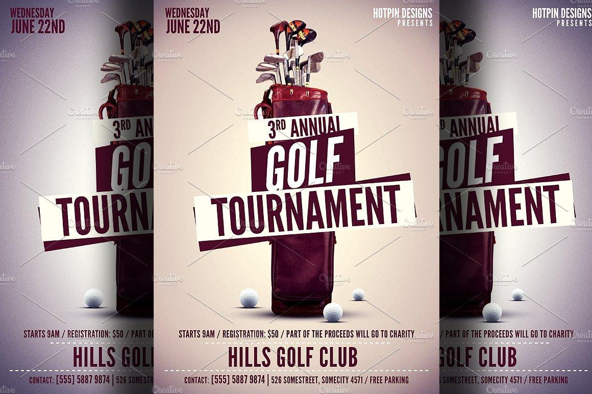 Golf tournament Flyer Templates Golf tournament Flyer Template Flyer Templates