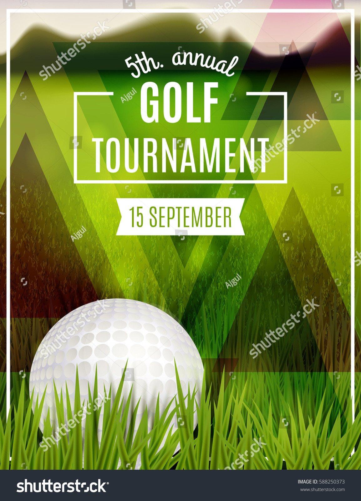 Golf tournament Flyer Templates Golf tournament Poster Template Flyer Design Stock Vector