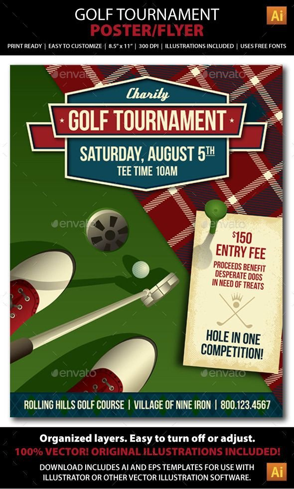Golf tournament Flyers Template Golf tournament event Poster or Flyer Sports events