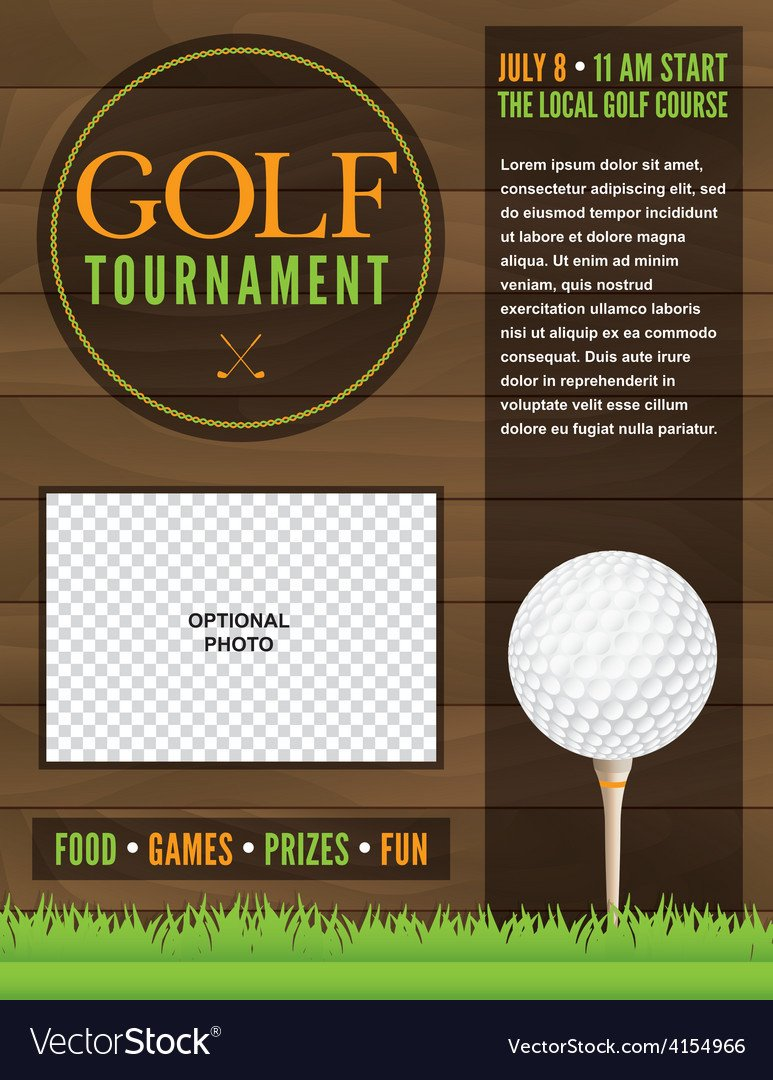 Golf tournament Flyers Template Golf tournament Flyer Template Royalty Free Vector Image