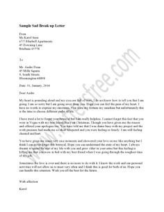 Goodbye Break Up Letter 1000 Images About Sample Break Up Letter On Pinterest