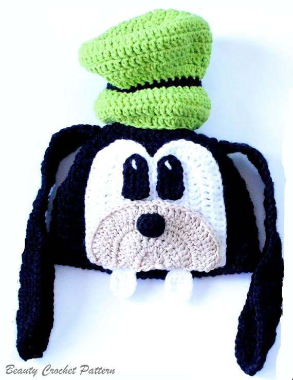 Goofy Hat Template Crochet Pattern Goofy Hat Goofy Hat Newborn to Adult Hat