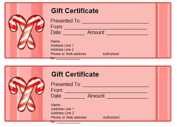 Google Docs Certificate Template Gift Certificate Template Google Docs