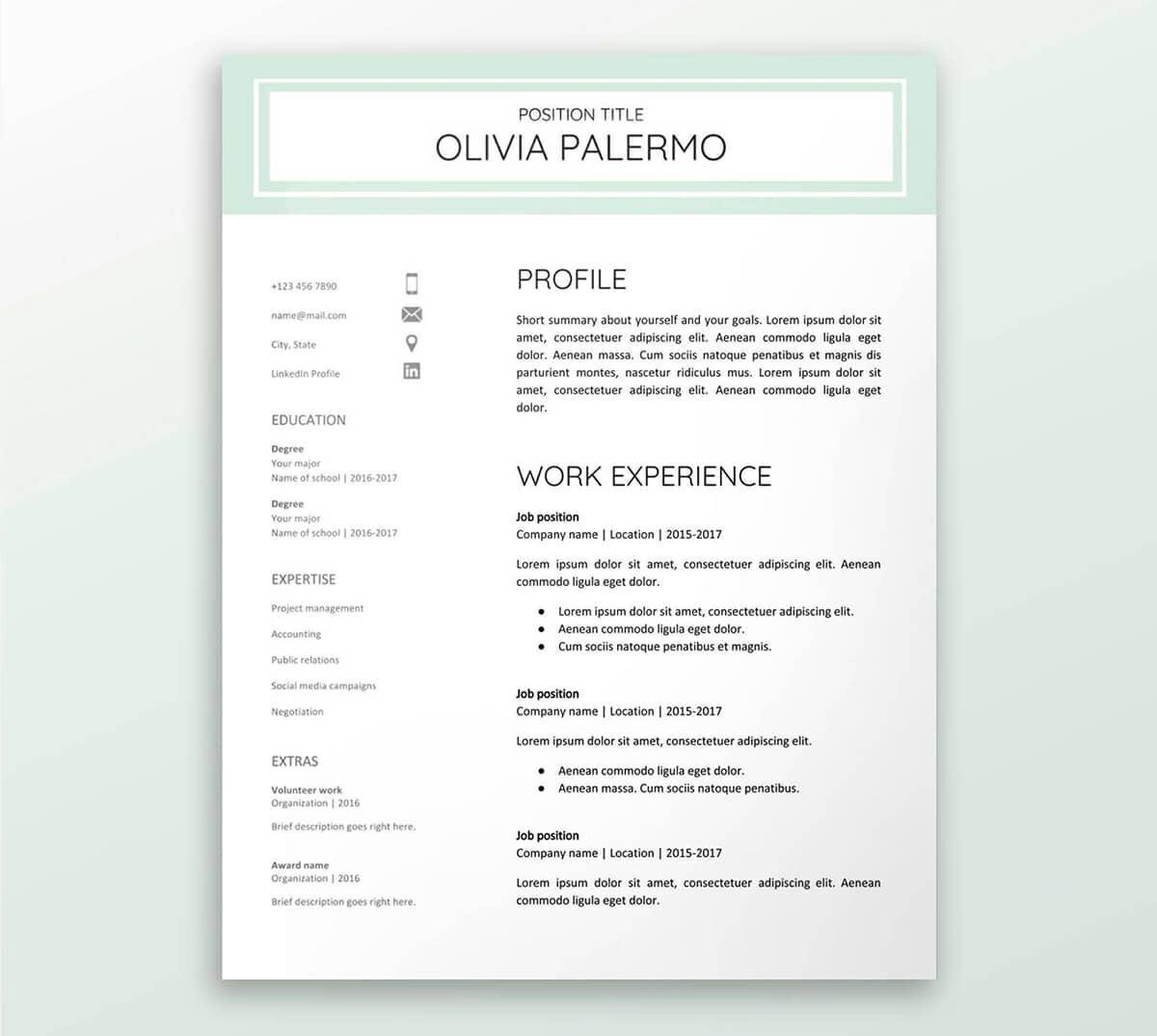 Google Docs Letter Template Google Docs Resume Templates 10 Free formats to Download