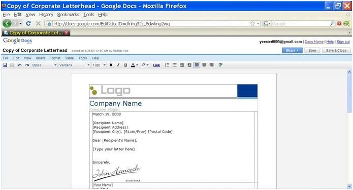 Google Writer Docs Web 2 0 Tools New Possibilities