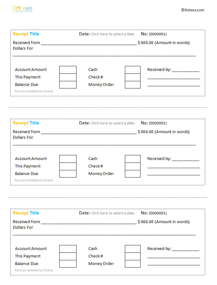 Google Docs Receipt Template Cash Receipt Template Google Docs