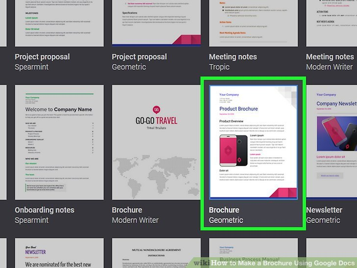 Google Docs Trifold Template How to Make A Brochure Using Google Docs with