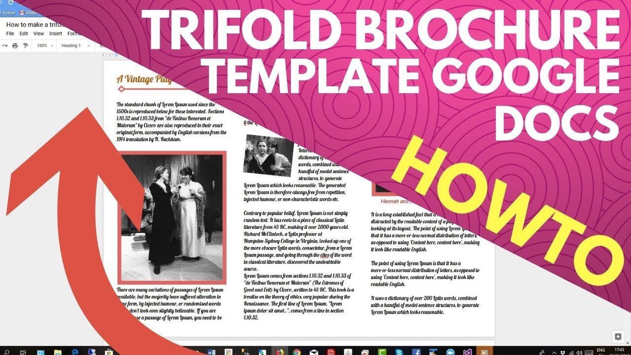 Google Docs Trifold Template Trifold Brochure Template Google Docs