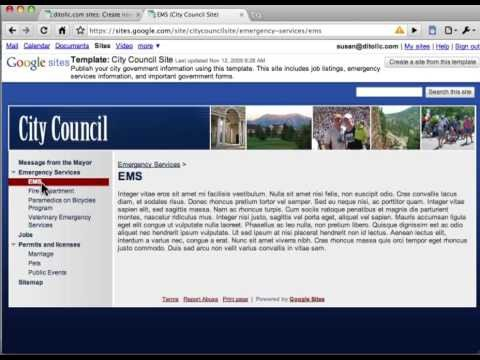 Google Sites Template Gallery Introduction to Google Sites Template Gallery