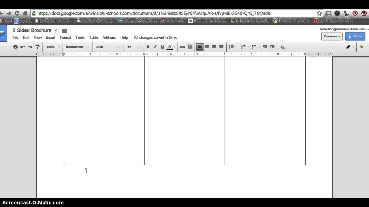 Google Slides Brochure Template How to Make 2 Sided Brochure with Google Docs