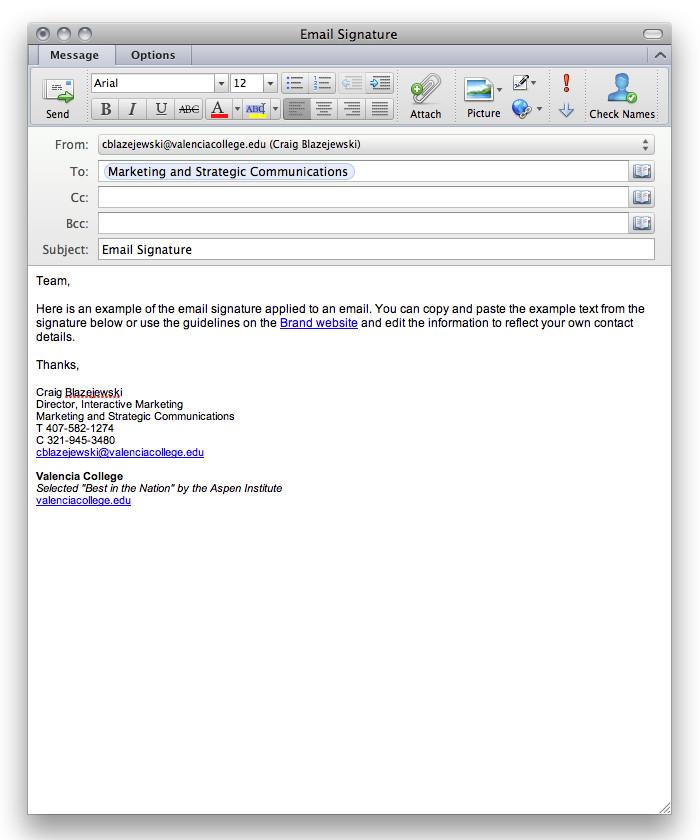 Grad Student Email Signature aspen Valencia College News